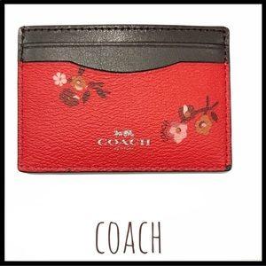 Coach Baby Boquet Red/Brown card holder